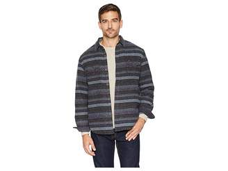 True Grit Baja Textured Stripe Shirt Jacket with Ultra Soft Sherpa Lining