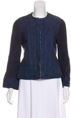 Tory Burch Suede Collarless Jacket