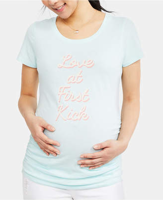 Motherhood Maternity Love At First Kick Graphic Tee