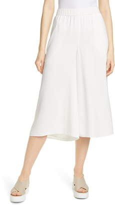 Eileen Fisher Wide Leg Crop Silk Pants