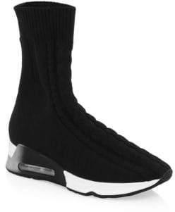 Ash High-Top Sock Sneakers