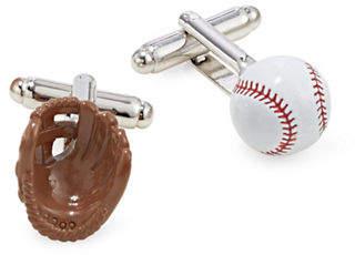 Cufflinks Inc. 3D Baseball and Glove Cufflinks