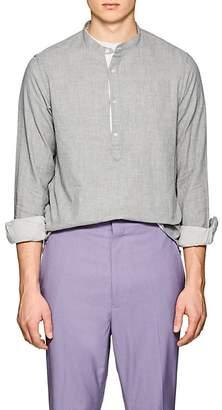 Officine Generale Men's Slub Cotton Long-Sleeve Tunic