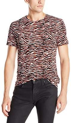 Just Cavalli Men's Zebra Vibe Print Tee Shirt