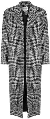 Carmen March Checked Wool-blend Coat