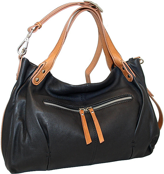 Nino Bossi Soft Unstructured Satchel with Cross Body Option