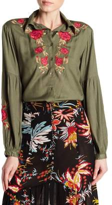 Z&L Europe Floral Embroidered Blouse
