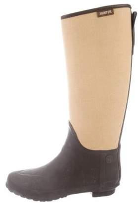 Hunter Woven Tall Rain Boots Tan Woven Tall Rain Boots