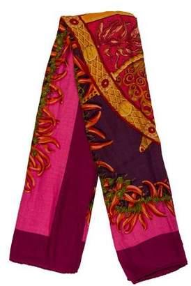 Hermes Aux Pays Des Epices Cashmere Silk Shawl