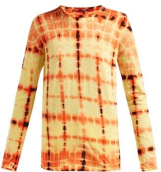 Proenza Schouler Tie Dyed Long Sleeved Cotton T Shirt - Womens - Yellow Multi