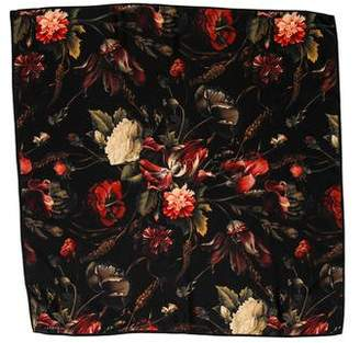 Givenchy Floral Silk Scarf