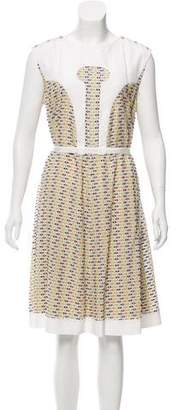 Fendi Embroidered Midi Dress