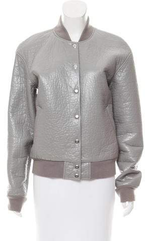 T by Alexander Wang Faux Leather Bomber Jacket