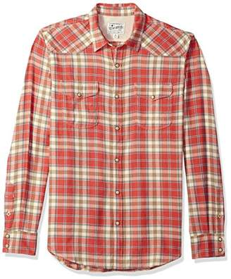 Lucky Brand Men's Long Sleeve Plaid Western Button Down Shirt in Red Multi