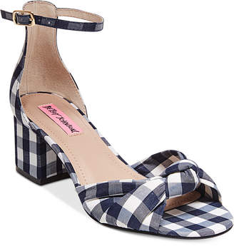 Betsey Johnson Ivee Block-Heel Sandals $59 thestylecure.com