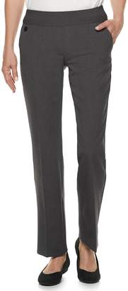 Croft & Barrow Women's Pull-On Straight-Leg Dress Pants