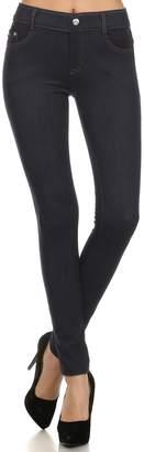 ICONOFLASH Women's Classic Everyday Fashion Denim Full Length Jegging (, M/L)