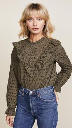 Cooper & Ella Embroidered Eyelet Top