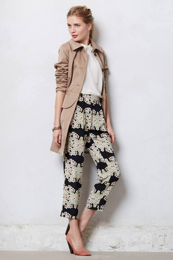 Anthropologie Daisy Stripe Trousers