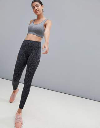 New Look Active Space Dye Gym Legging
