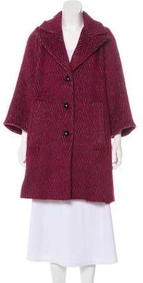 Smythe Knee-Length Button-Up Coat