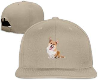 Corgi LOOKNAP Unisex Adult Puppies & Dogs Structured Flat Adjustable Snapback Cool Baseball Cap