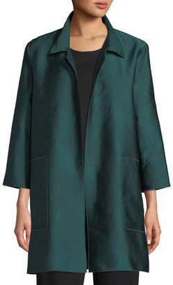 Caroline Rose Zen Garden Jacquard Shirt Jacket, Plus Size