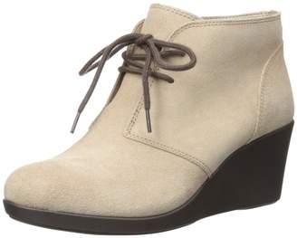 Crocs Women's Leigh Suede Wedge Shootie Boot