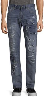 Affliction Men's Gage Fleur Rosemund Rip Jeans