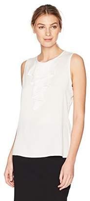 Lark & Ro Women's Tiered Ruffle Sleeveless Top