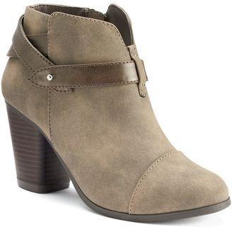 LC Lauren Conrad Women's Slit Ankle Boots $69.99 thestylecure.com