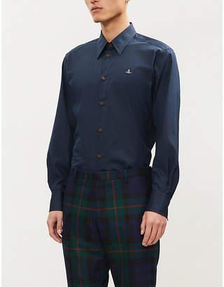 Vivienne Westwood Logo-embroidered regular-fit cotton shirt