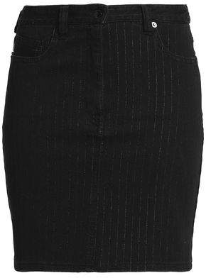 Love Moschino Pinstriped Denim Mini Skirt