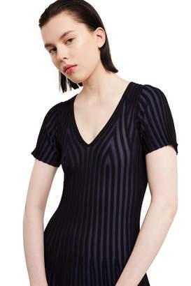 Kenzo V-Neck Pleated Dress