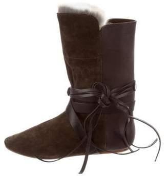 Isabel Marant Nia Rabbit Fur Boots w/ Tags Black Nia Rabbit Fur Boots w/ Tags