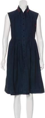 Preen Line Denim Midi Dress