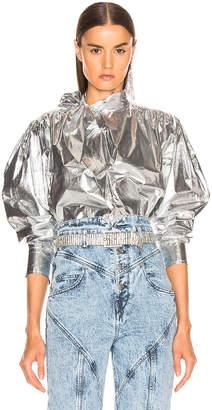 Isabel Marant Tessa Top in Silver | FWRD