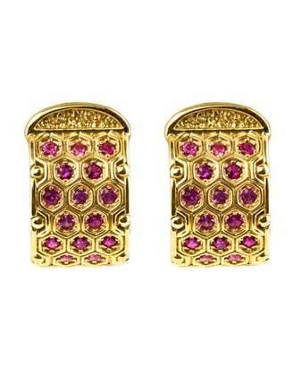 Konstantino 18k Yellow Gold Pink Sapphire Earrings