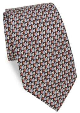 Salvatore Ferragamo Silk Fox Tie