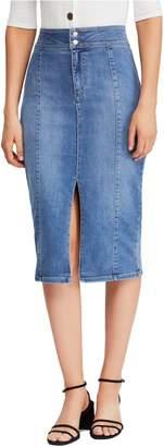 Free People Maddie Denim Midi Skirt
