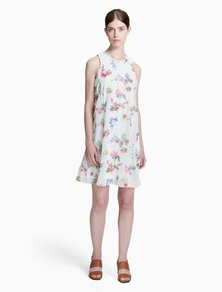 Calvin Klein floral embroidered trapeze dress