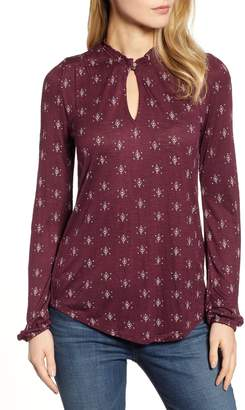 Lucky Brand Diamond Print Top