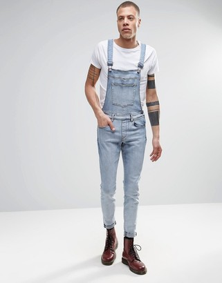 Dr Denim Ira Skinny Overall Jeans in Blue Stone Light Wash $106 thestylecure.com