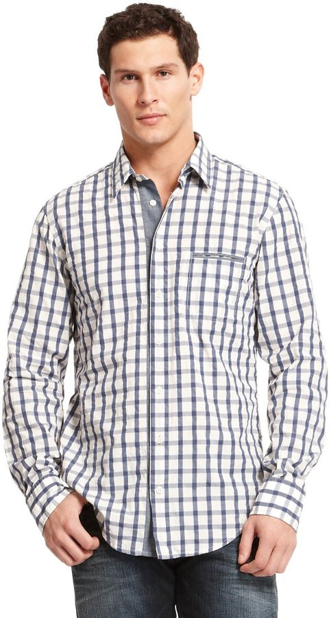 HUGO BOSS 'CieloebuE'   Slim Fit, Cotton Casual Shirt by BOSS Orange