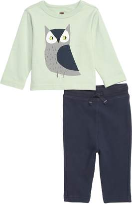 Tea Collection Wise Owl T-Shirt & Leggings Set