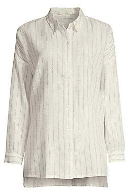 526b7cc9 Eileen Fisher Women's Classic-Collar Striped Boxy Shirt