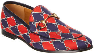 Gucci Rhombus Chain Leather Loafer