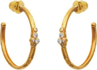 Gurhan Pointelle Diamond Hoop Earrings