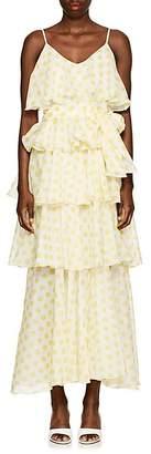 Lisa Marie Fernandez Women's Imaan Dot-Print Cotton Dress