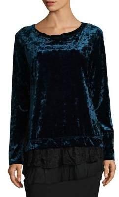 Karen Kane Tiered Velvet Top